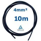 10 m Reiter-Solar SK4010 Solarkabel 4 mm - PV Verbindungs-Kabel unkonfektioniert rot oder schwarz, Farbe:Schwarz -