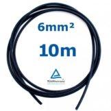 10 m Reiter-Solar SK6010 Solarkabel 6 mm - PV Verbindungs-Kabel unkonfektioniert rot oder schwarz, Farbe:Schwarz -