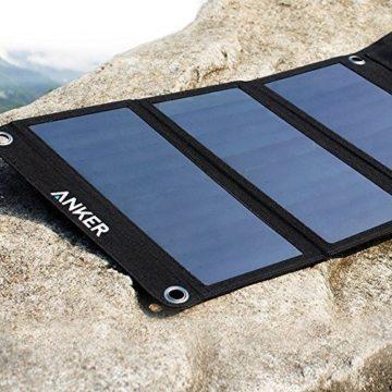 Anker PowerPort 21W 2-Port USB Solarladegerät für iPhone 6s / 6 / 6s Plus / 6 Plus, iPad Air 2 / mini 3, Galaxy S6 / S6 Edge und weitere -