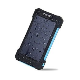 InnooTech Solar Ladegerät 10000mAh Regenbestädiges und Staubdichtes Duale USB Ports Solar Power Bank Externe Akku Backup Batterie für iPhone, iPad, Handy, Tablet, Kamera usw. -
