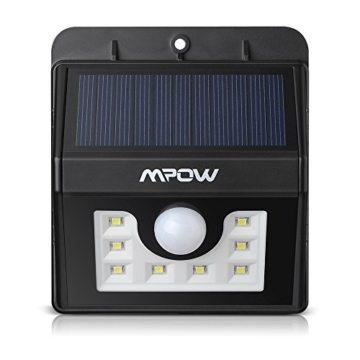 Mpow 2 Stück Solarleuchten [3 Intelligiente Modi] 8 helle LED Solarlampe mit Bewegungs-Sensor 3-in-1 für Garten usw. -