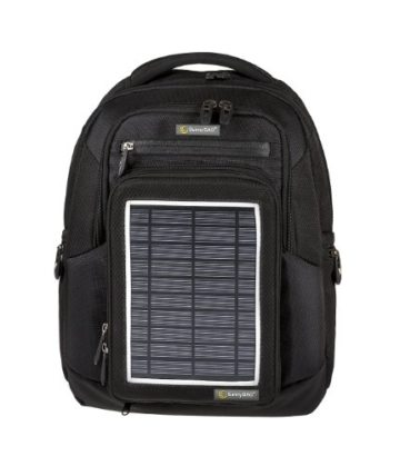 Solarrucksack SunnyBAG Explorer Schwarz mit integriertem Solarladegerät, schwarz -