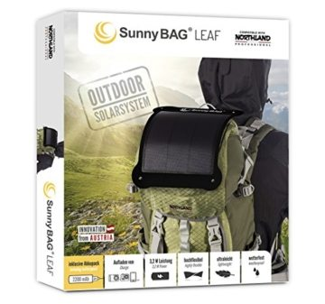 SunnyBAG® Leaf Outdoor Solar Ladegerät, Flexibles Solarpanel, Schwarz -