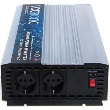 VOLTRONIC® MOD. SINUS Spannungswandler 12V auf 230V, 7 Varianten: 200 - 3000 Watt, e8 Norm -